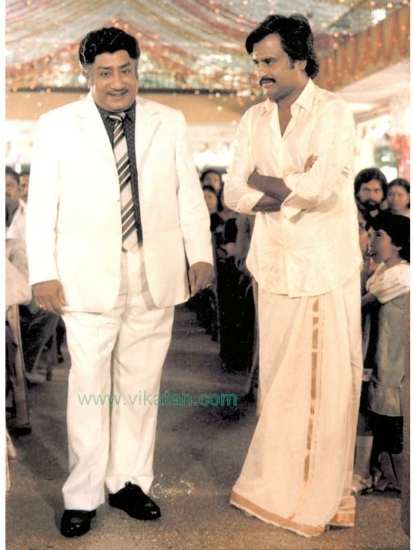 Rajinikanth & Sivaji Ganesan in 'Padikkathavan' (1985) Tamil Movie