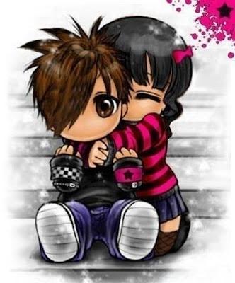 Abrazo pareja Emo