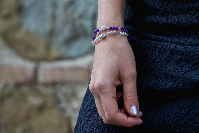 bracciali perline cristalli