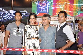 Siddarth Mallya and Sameera Reddy Inaugurates KIEHL's outlet