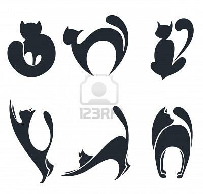 Exploraciones de gatos negros adolescentes