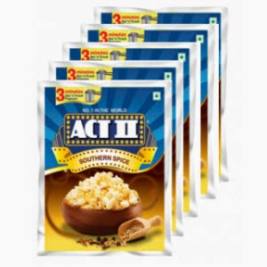 Shopclues: Buy Act II Instant Popcorn set of 5 and Rs. 1 cashback at Rs. 64
