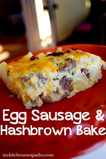 Egg Sausage and Hashbrown breakfast bake