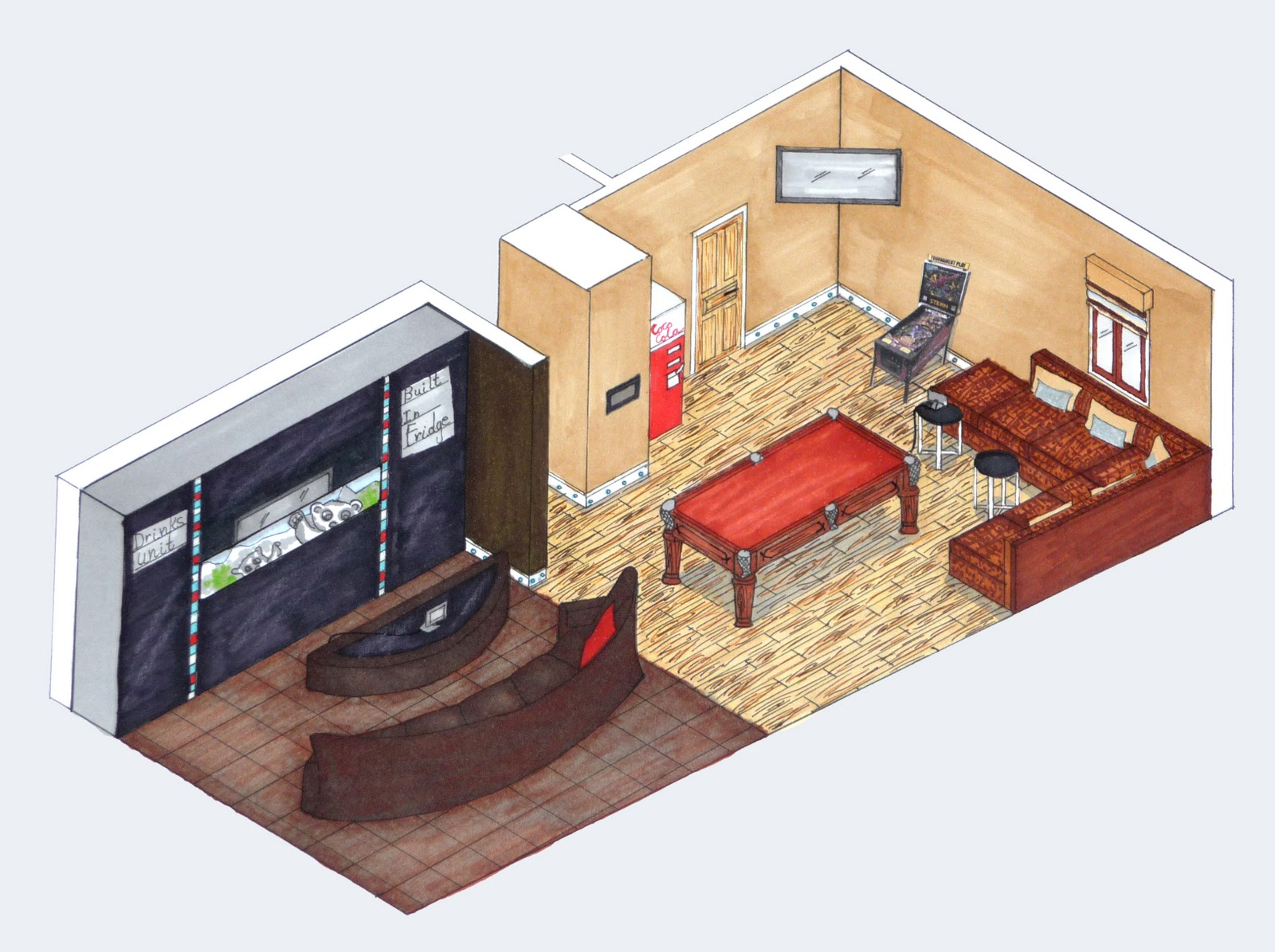 client   Isometric View   is Isometric Dream House Drawing