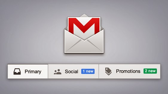 Gmail Tabbed Design
