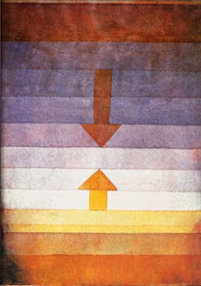 Paul Klee painting - Scheidung Abends