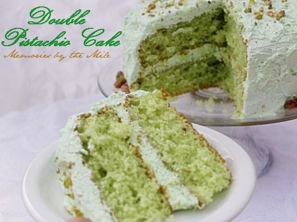 delicious: Double Pistachio Cake and Frosting