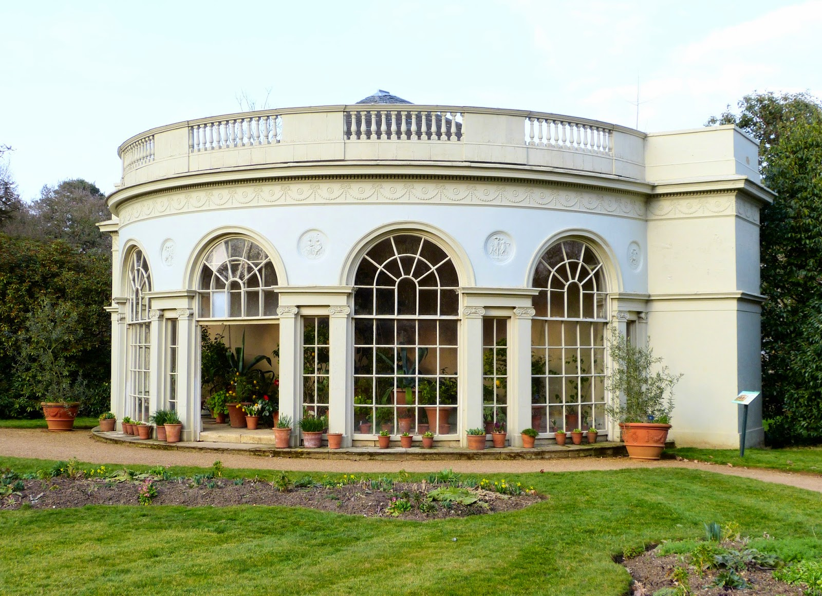 The Garden Room in the gardens at Osterley