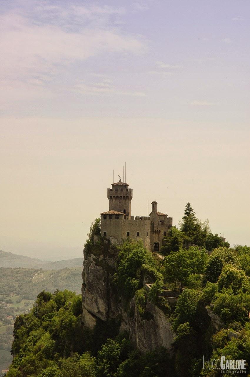 Castelo de San Marino na Itália