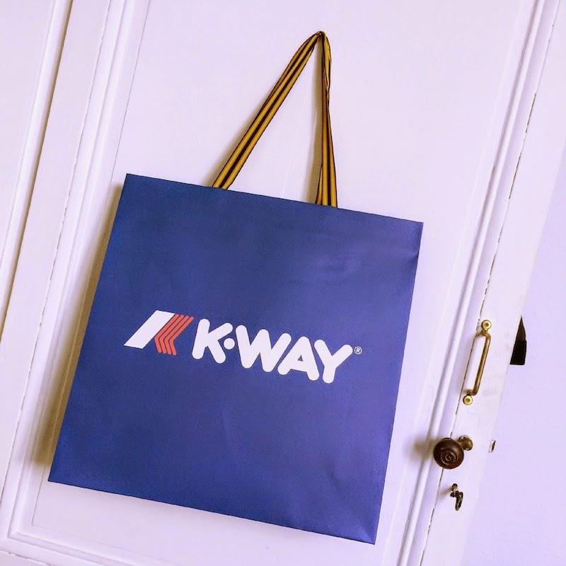 poche boutique K-way bordeaux