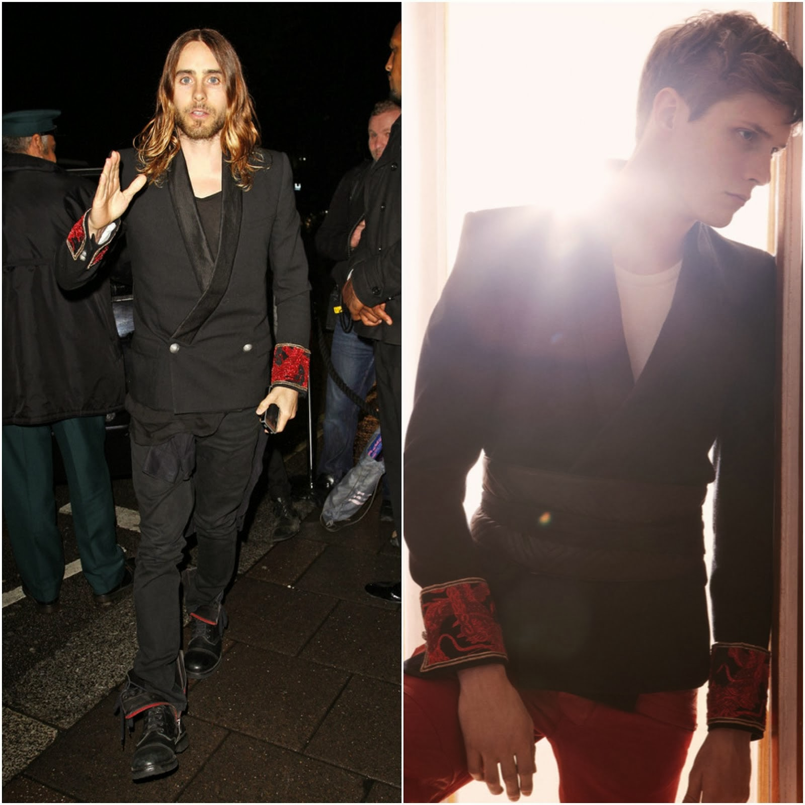 00O00 Menswear Blog: Jared Leto in Balmain - Harper's Bazaar LFW Closing Party