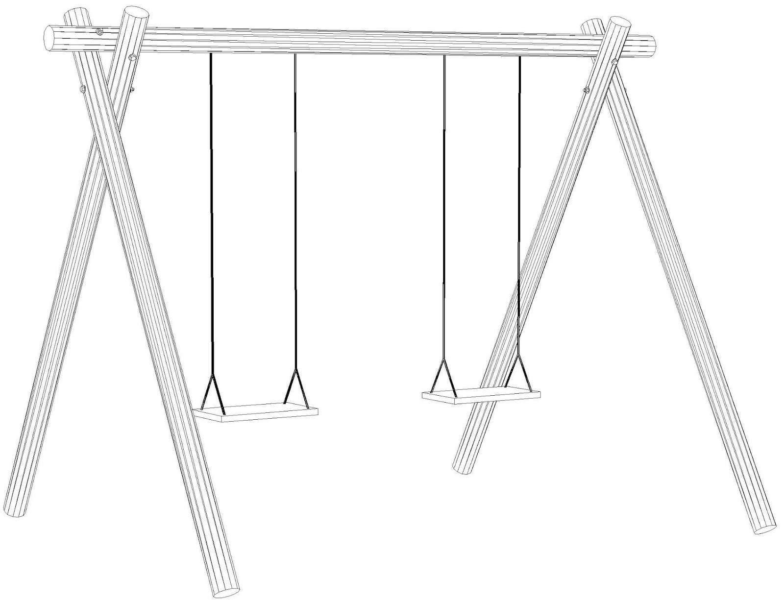 Costruire facile come costruire un 39 altalena in legno - Disegnare un giardino ...