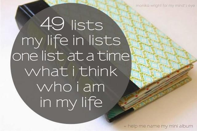 49 Lists | iloveitallwithmonikawright.com