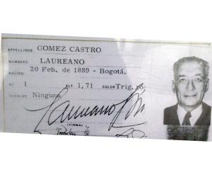 primer colombiano identificado con cédula de ciudadanía
