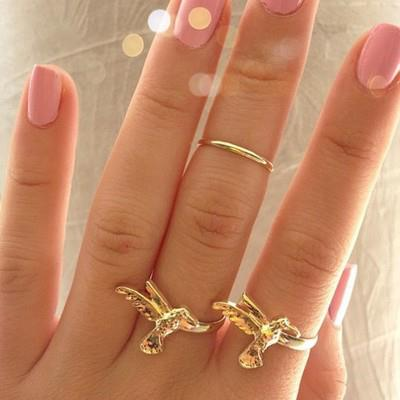 Golden sparrow rings for women