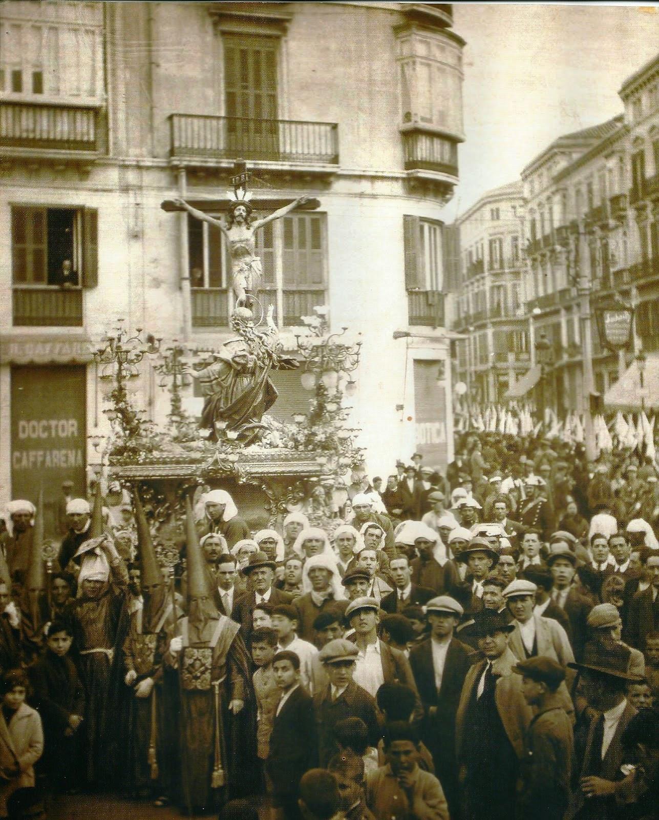 Fiestas de Málaga, 1929 Cristo de la Expiración
