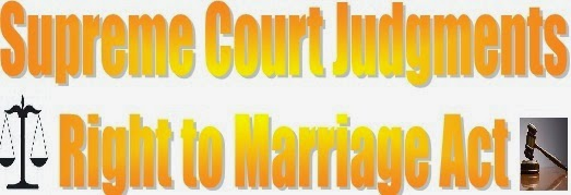 supreme court judgement of marriage act