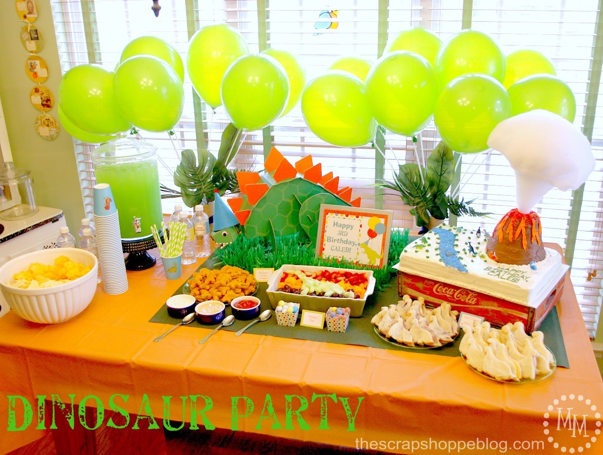 Dinosaur Birthday Party The Scrap Shoppe