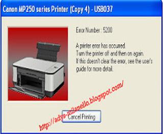 Error 5200 or P08 pada Printer MP258
