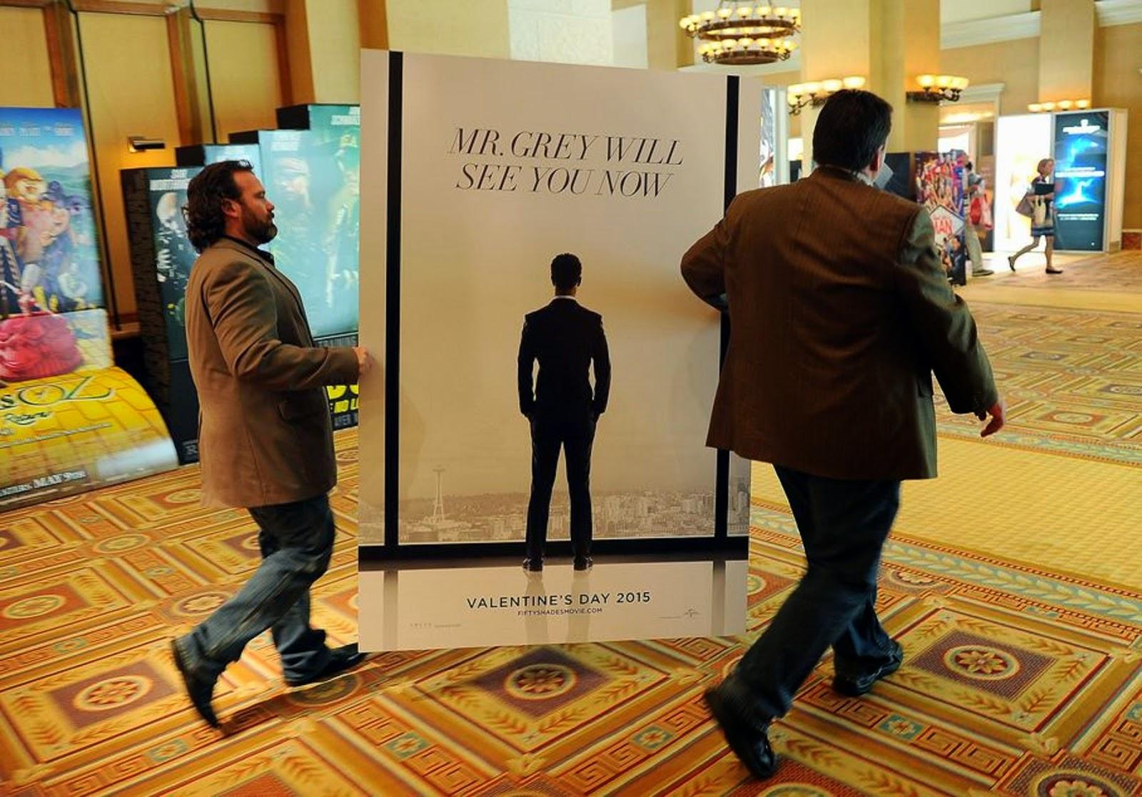 Poster de 50 Sombras en el Cinemacon en Las Vegas  (HQ sin marcas)