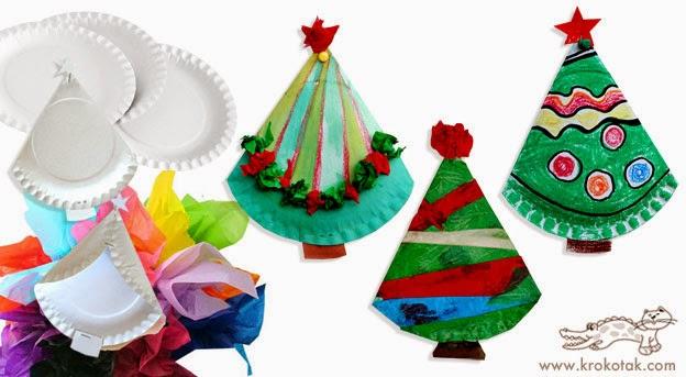 Riciclo piatti di carta tutorial di natale per i bimbi for Ghirlande natalizie di carta