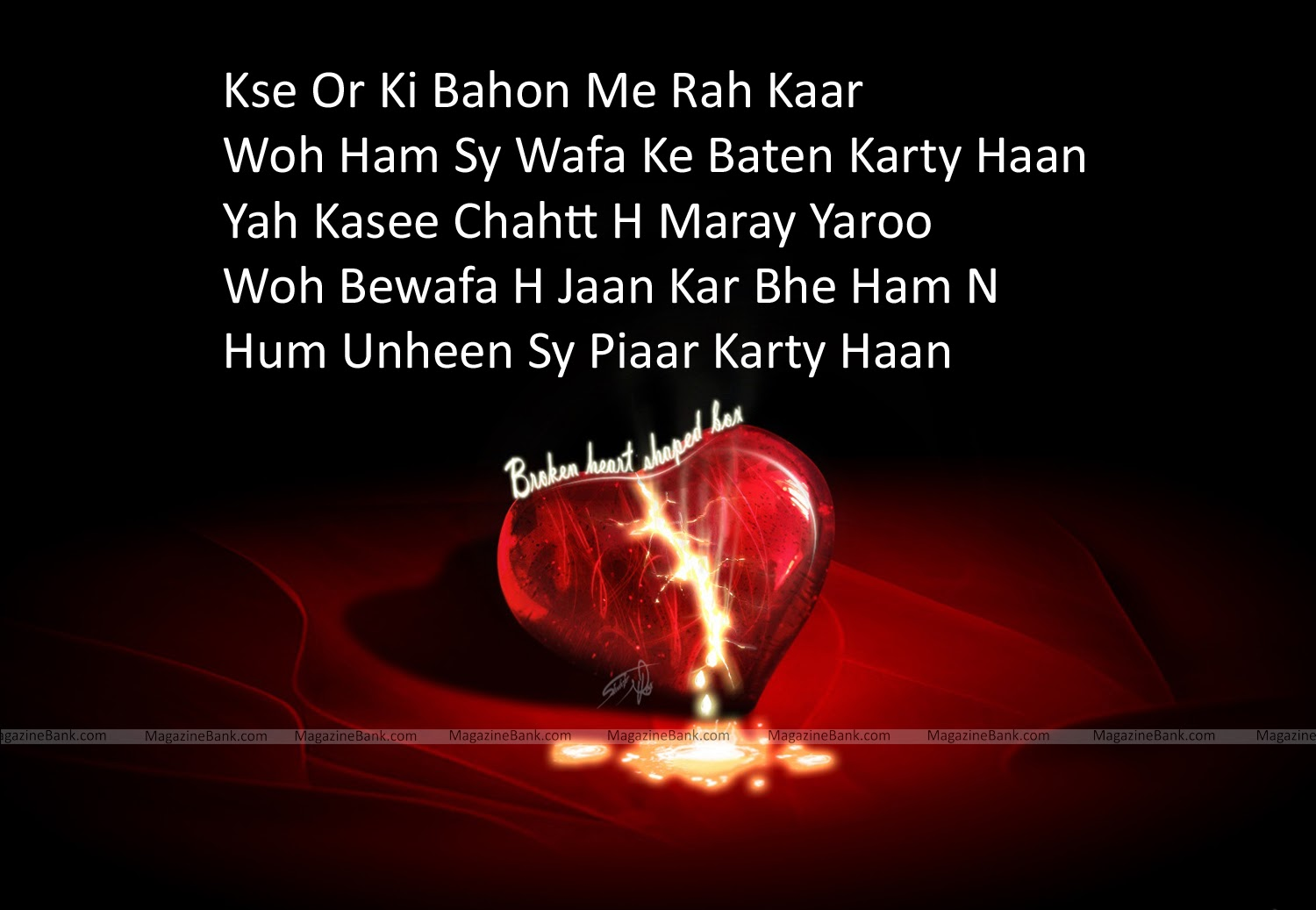 Sad Broken Heart Shayari In Urdu Images