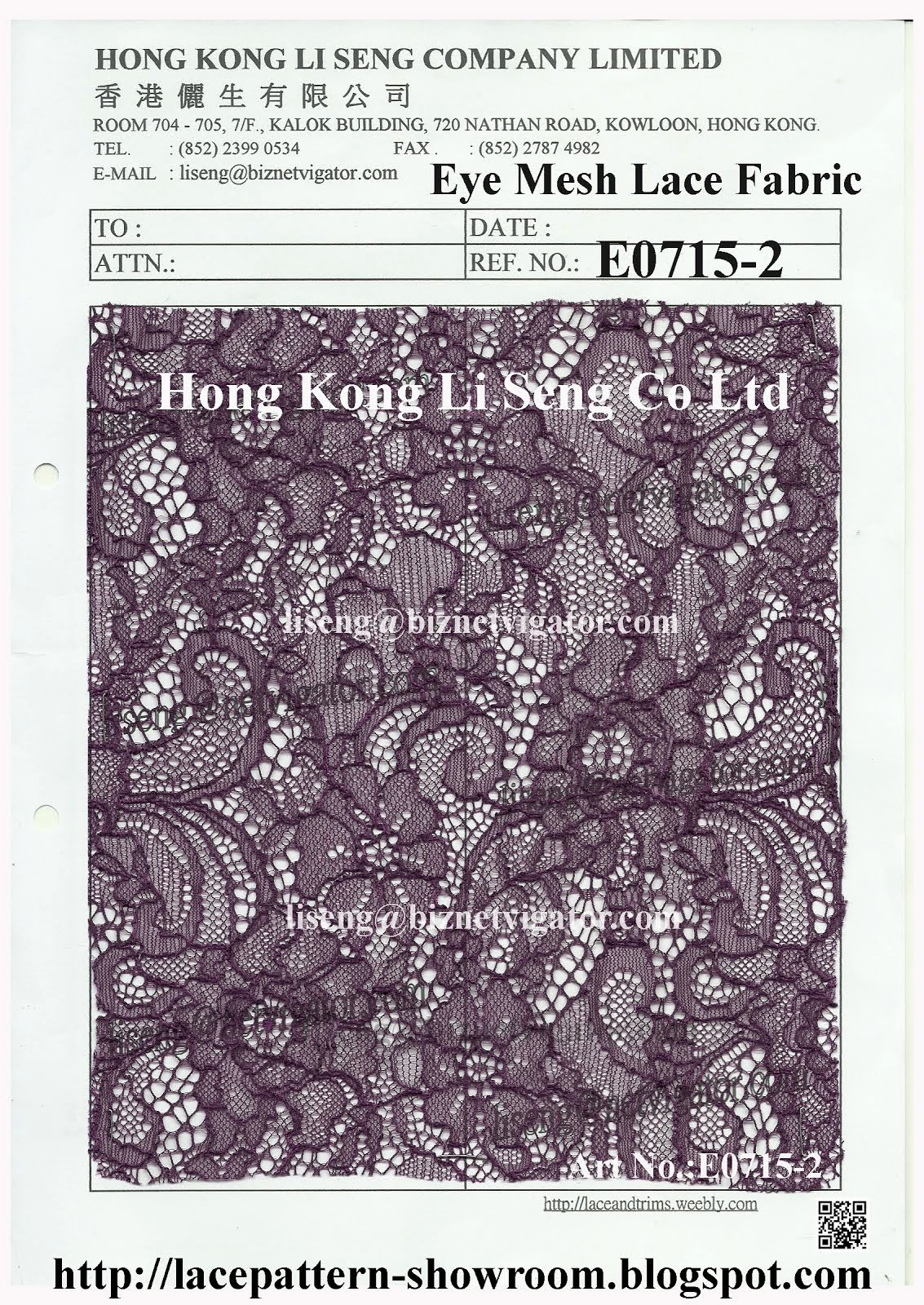 Introduce the Good Lace Trims Lace Fabric Manufacturer Wholesaler Supplier Hong Kong Li Seng Co Ltd