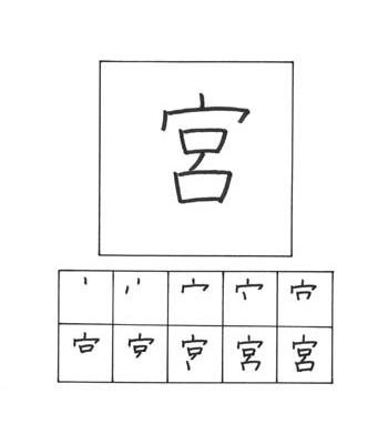 kanji tempat mewah/kuil shinto