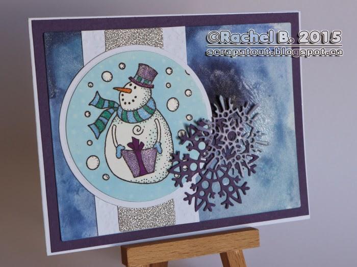 Impression Obsession Winter Handmade card