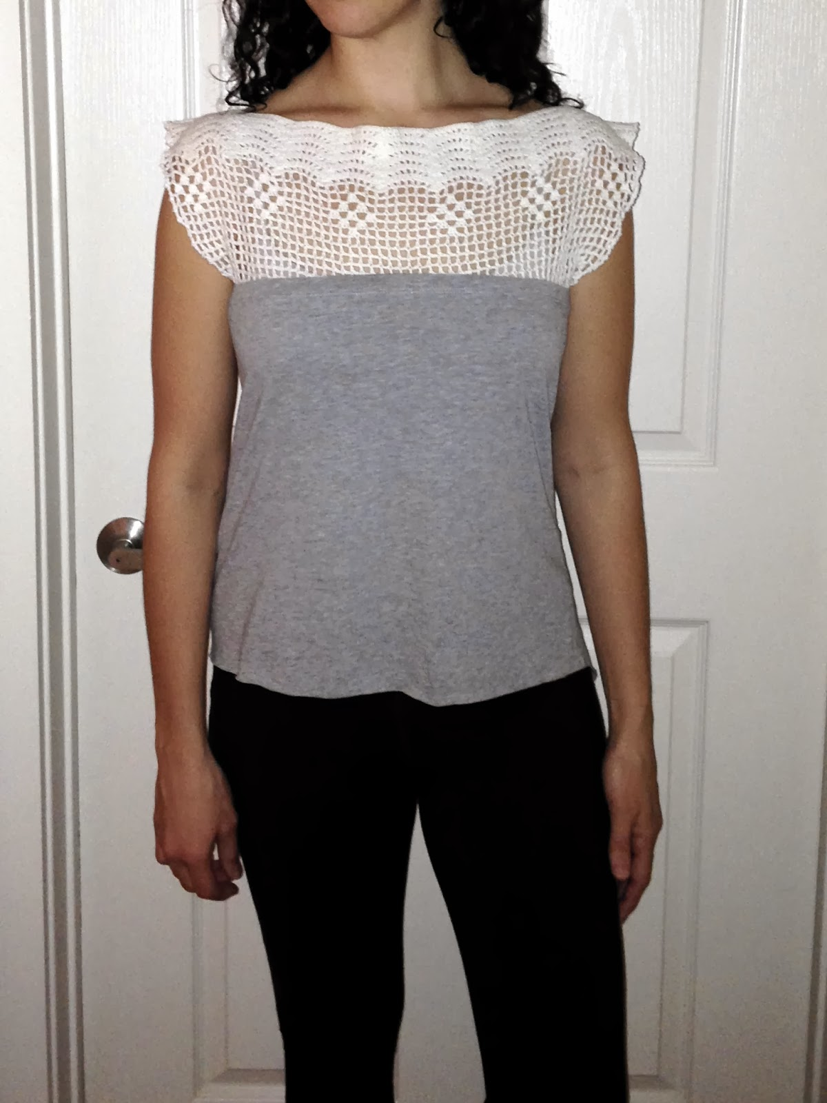 Ulterior Alteration Crochet T-Shirt Mash Up Front