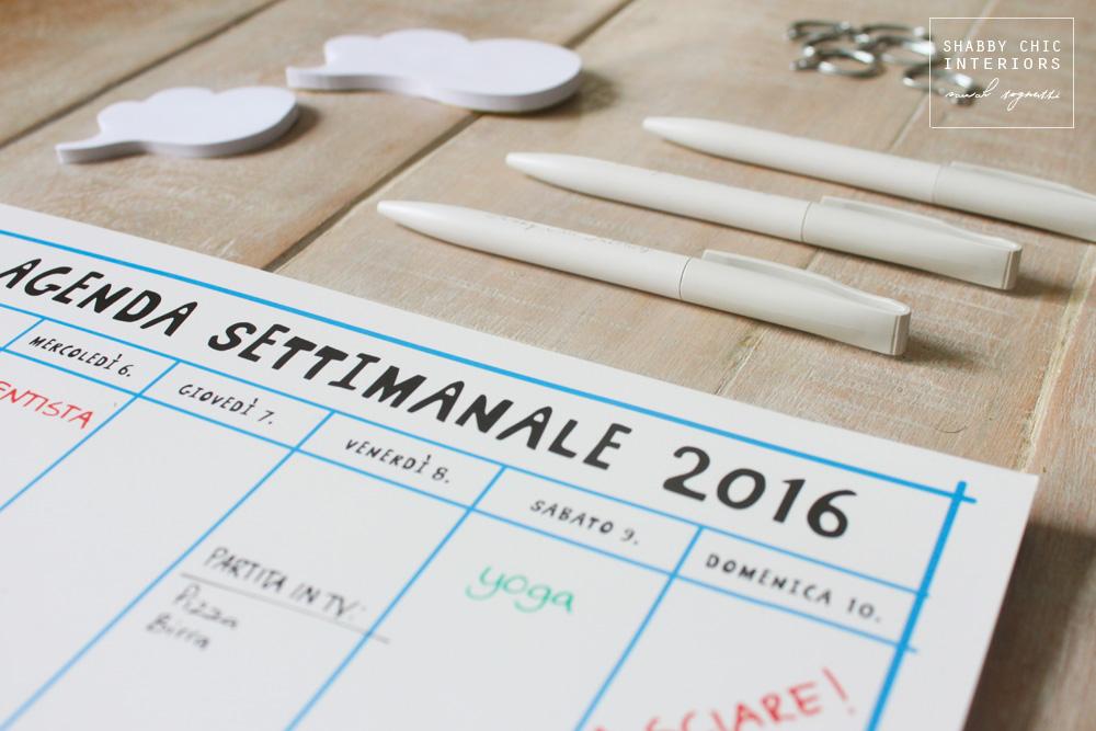 Agende e organizer quali scegliere shabby chic interiors - Agenda da tavolo settimanale ...