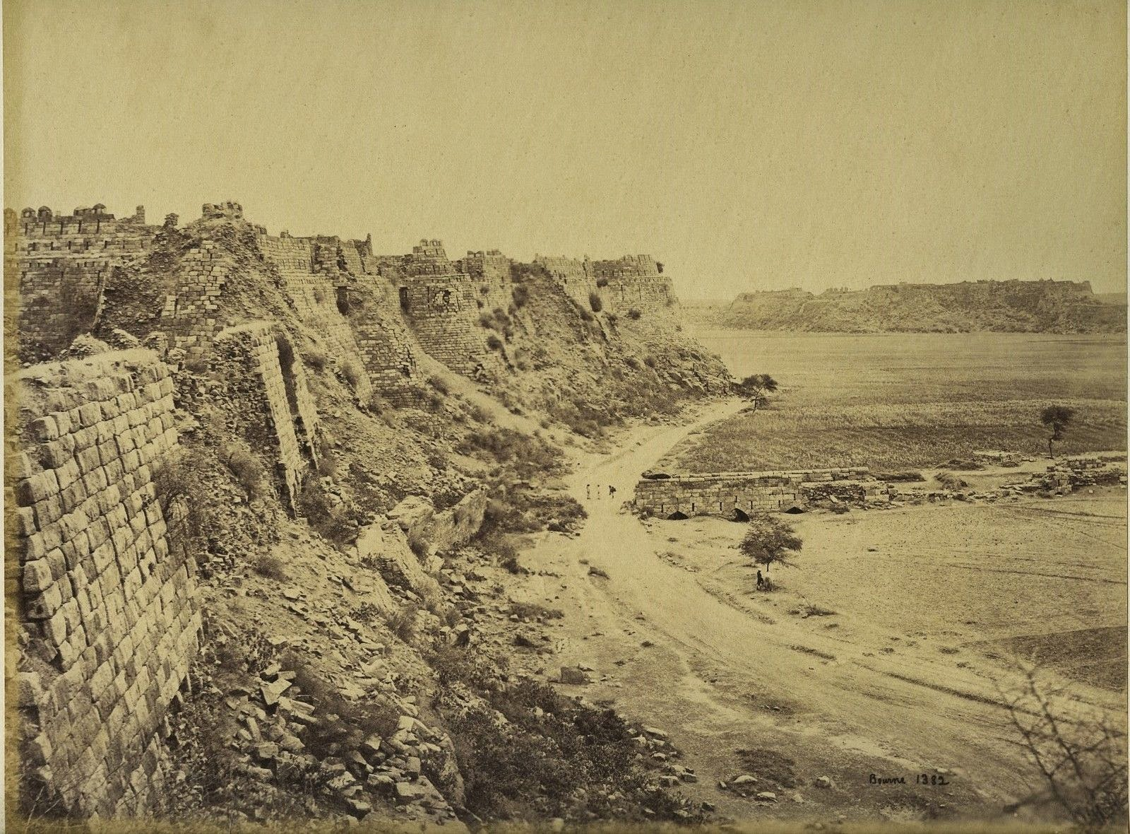 Tughlaqabad Fort in Delhi - c1870's