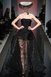 Vanessa Lekpa haute couture romantique Gattinoni dentelle noire