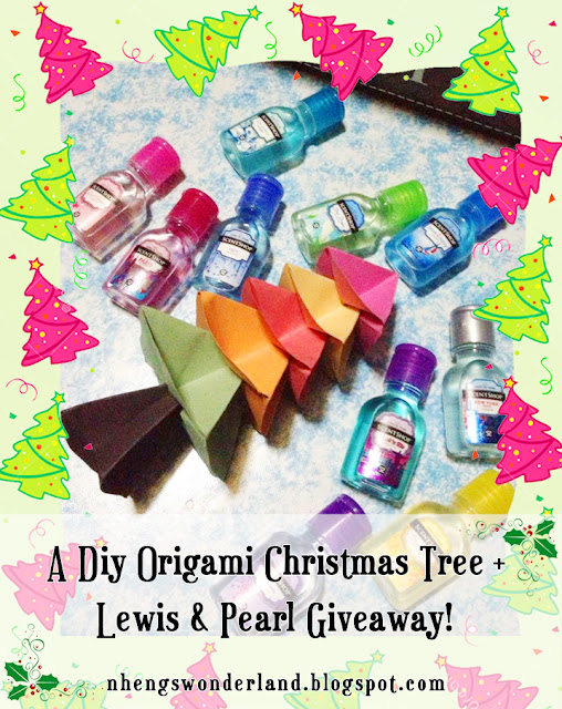 A DIY Origami Christmas Tree Paper + Lewis & Pearl Giveaway