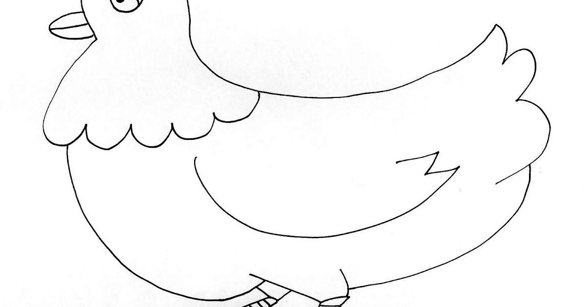Cuentosdedoncoco com dibujo de la gallina para colorear - Dibujos en la pared infantiles ...