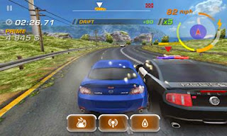 Screenshots of the Need for Speed: Hot Pursuit for Android tablet, phone.