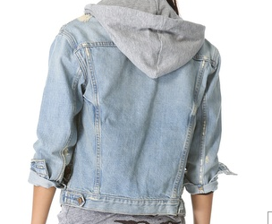 Denim Sweatshirt Jacket