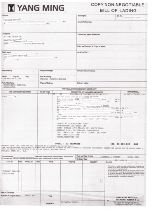 bill of lading msc - photo #28