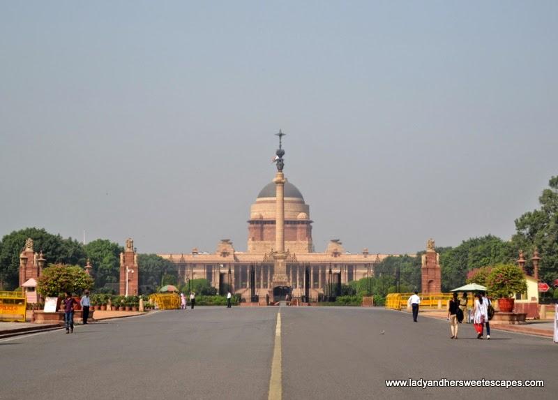 Rashtrapati Bhavan in New Delhi India