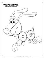 word world dog coloring pages
