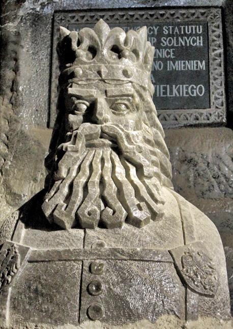 Rey en las Minas de Sal de Wieliczka en Polonia