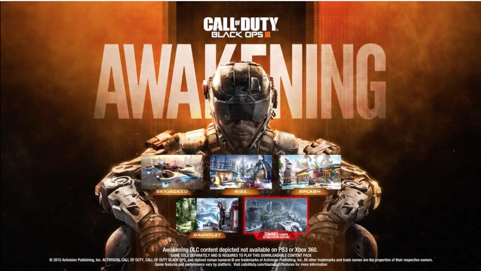 Call of Duty: Black Ops III Awakening Now Available for PS4 ... Call Of Duty Black Ops All Map Packs on