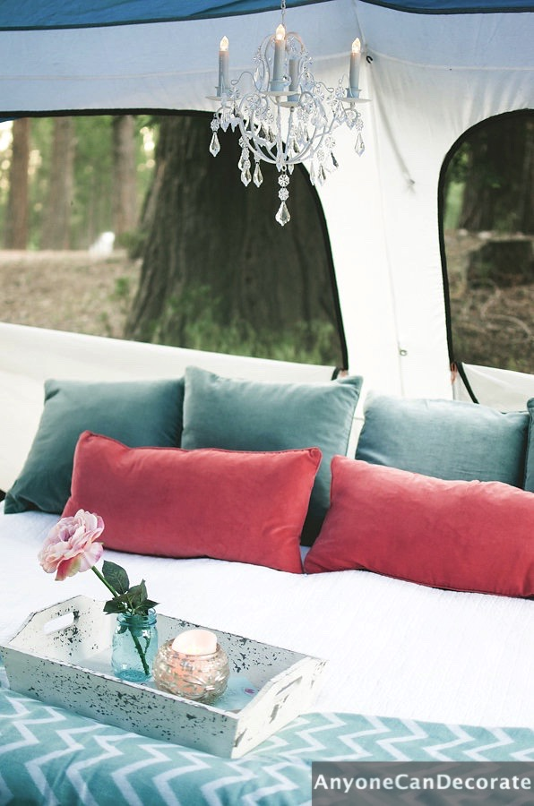 Anyone can decorate gone glamping a diy glamorous for Glamping ideas diy