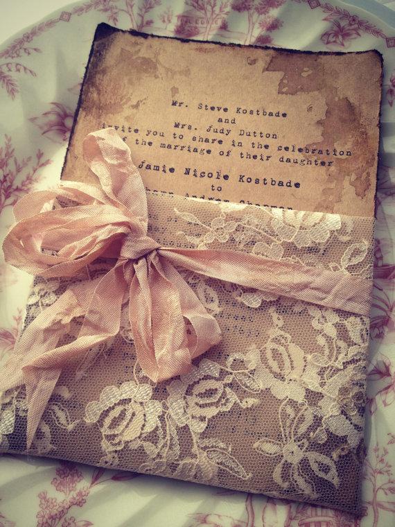 Unxia Lace Invitation High End Handmade