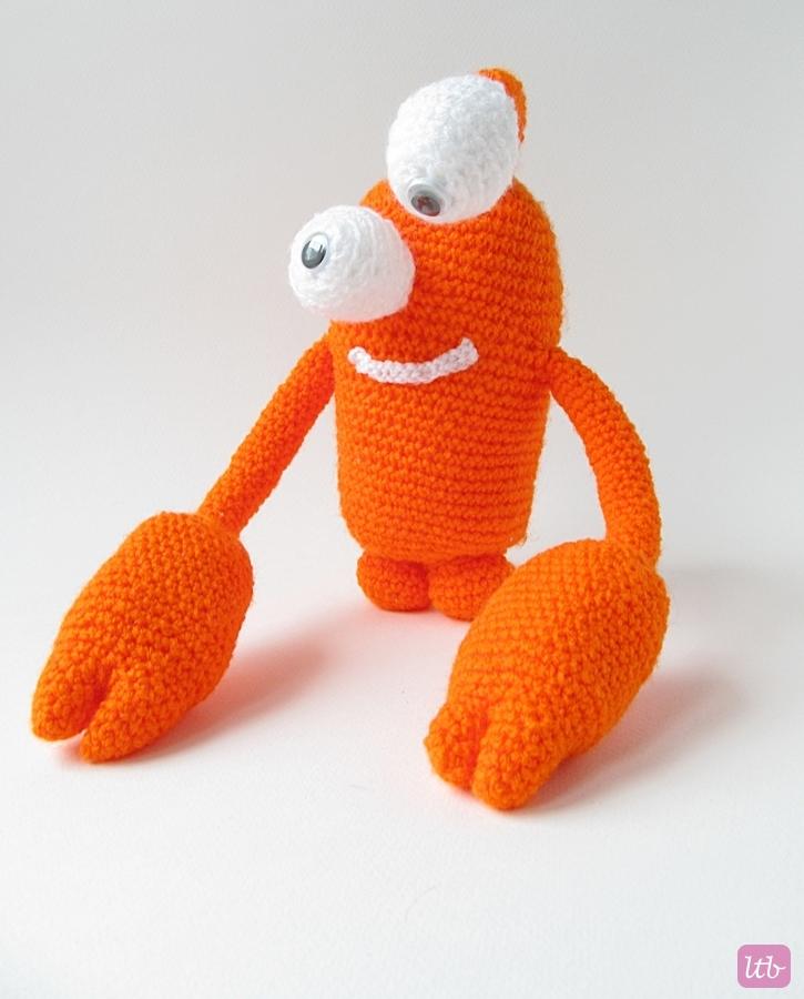 Crochet Amigurumi Crab : {Amigurumi Greg the Crab Monster} - Little Things Blogged