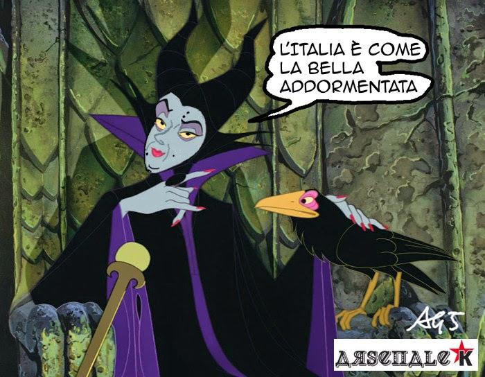Renzi, Usa, Bella addormentata, satira