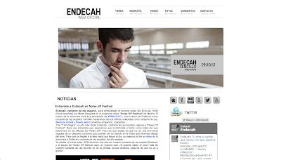 Endecah Web Oficial. Últimas noticias del cantante de rap español, Endecah. Entérate de todos los conciertos y videoclips de este cantante de rap.
