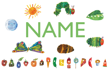 Eric Carle Name Decals