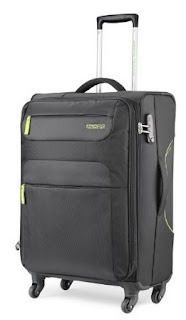 American Tourister Ski Polyester 68Cms Black Soft Sided Suitcase