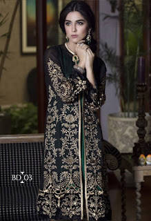 Maria B Party Wear Winter Dresses 2016